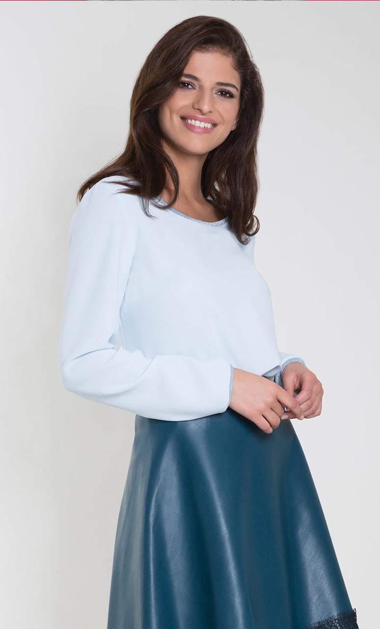 Женская блуза Rossane Zaps мятного цвета, коллекция осень-зима
