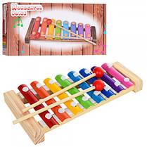 Музыкальная игрушка деревянный Ксилофон 8 тонов 1163