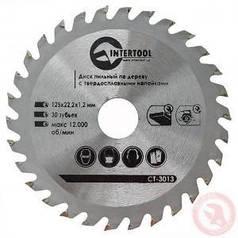 Диск пильный по дереву Intertool с твердосплавными напайками 125х22х1.4 мм, 30 зубьев (арт. CT-3013)