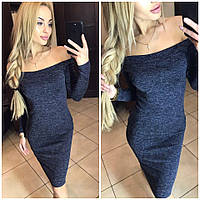"""Платье миди из ангоры """"Alana"""": распродажа модели 46, синий"""
