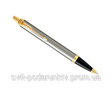 Ручка шариковая Parker IM 17 Brushed Metal GT BP 22 232 в подарок, фото 3
