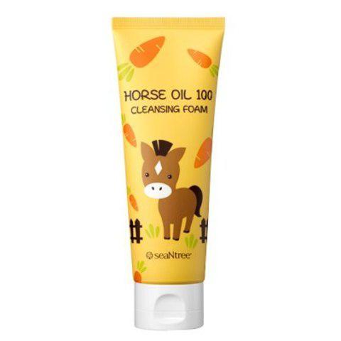 Пенка с лошадиным жиром Seantree Horse Oil 100 Cleansing Foam