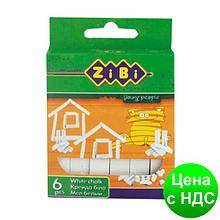 Мел белый 6шт., картонная коробка ZB.6701-12