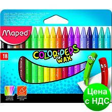 Мел восковой COLOR PEPS Wax Crayons, 18 цв. MP.861012
