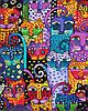 """Картина по номерам """"Цветные коты"""", 40x50 см., Brushme"""