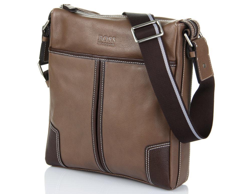 Кожаная мужская сумка Hugo Boss 2206-2