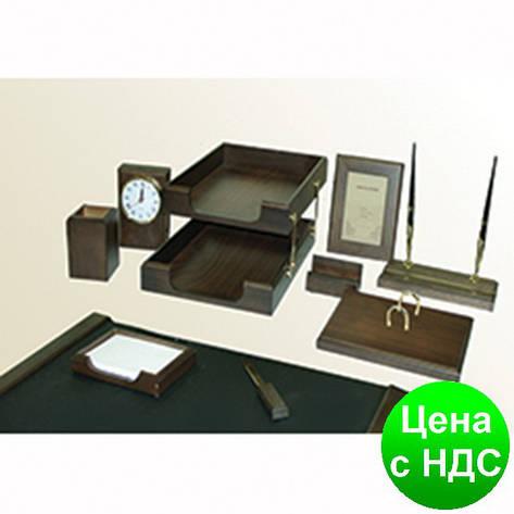 """Набор настольный деревянный. 10 предметов, """"Орех"""" 0259XDX, фото 2"""