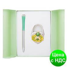 """Набір подарунковий """"Fairy Tale"""": ручка кулькова + гачок д/ сумки, зелений LS.122027-04"""