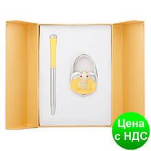 """Набір подарунковий """"Fairy Tale"""": ручка кулькова + гачок д/ сумки, жовтий LS.122027-08"""