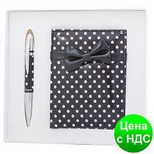"""Набір подарунковий """"Monro"""": ручка кулькова + дзеркало LS чорний.122036-01"""