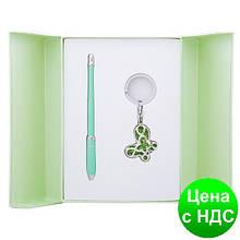 """Набір подарунковий """"Night Moth"""": ручка кулькова + брелок, зелений LS.122018-04"""