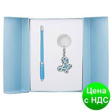 """Набір подарунковий """"Night Moth"""": ручка кулькова + брелок, LS синій.122018-02"""