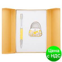 """Набір подарунковий """"Sense"""": ручка кулькова + гачок д/ сумки, жовтий LS.122031-08"""
