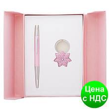 """Набір подарунковий """"Star"""": ручка кулькова + брелок, рожевий LS.122014-10"""