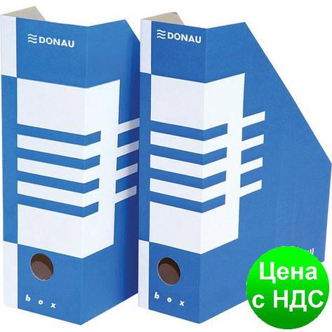 Накопитель для бумаг А4, 100мм, синий 7648001PL-10, фото 2