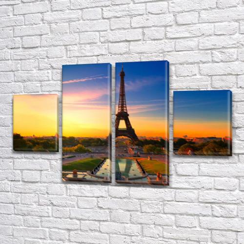Триптих картины купить в трех размерах на Холсте син., 50x80 см, (25x18-2/50х18-2)