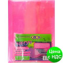 Обложка для тетрадей NEON А5 с клапаном, PVC, розовая ZB.4760-10