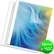 Обложка пласт. для термопереплета Standing 8мм,белые,товщ. 61-80 листов А4 f.53912