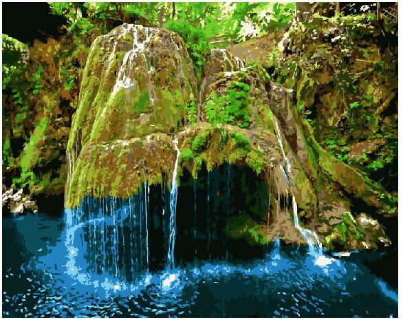 Картина по номерам Водопад Бигар, Румыния, 40x50 см., Brushme