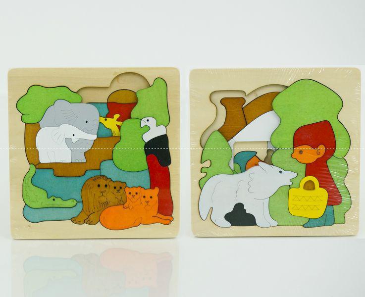 """Деревянная игра """"Пазлы 3D Животные"""" 0537 (78) 2 вида, в кульке"""