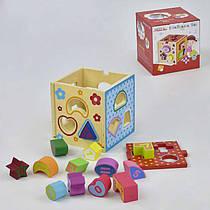 Деревянная игра Куб-сортер С 29381 (48) в коробке