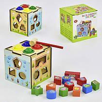 Деревянная игра Куб-сортер С 29383 (48) в коробке