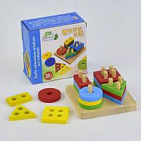 Деревянная игра Логическая пирамидка С 29408 (80) в коробке