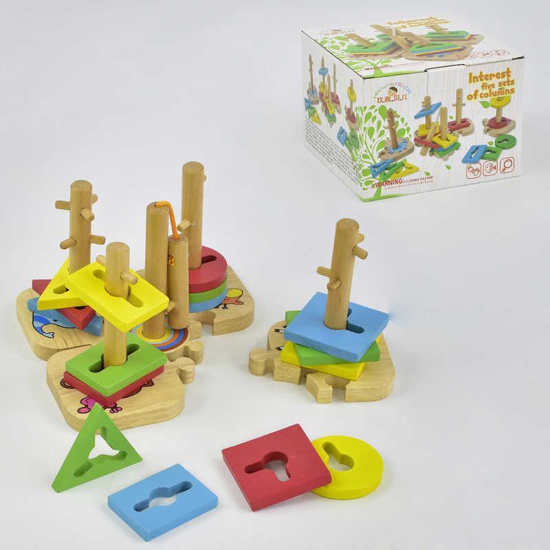 Деревянная игра Логический сортер С 29476 (36) в коробке