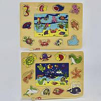 Деревянная игра Рыбалка на магнитах С 29535 (100) 2 вида