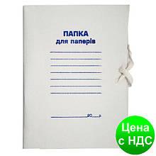 Папка на завязках JOBMAX, А4, картон , клееный клапан BM.3359