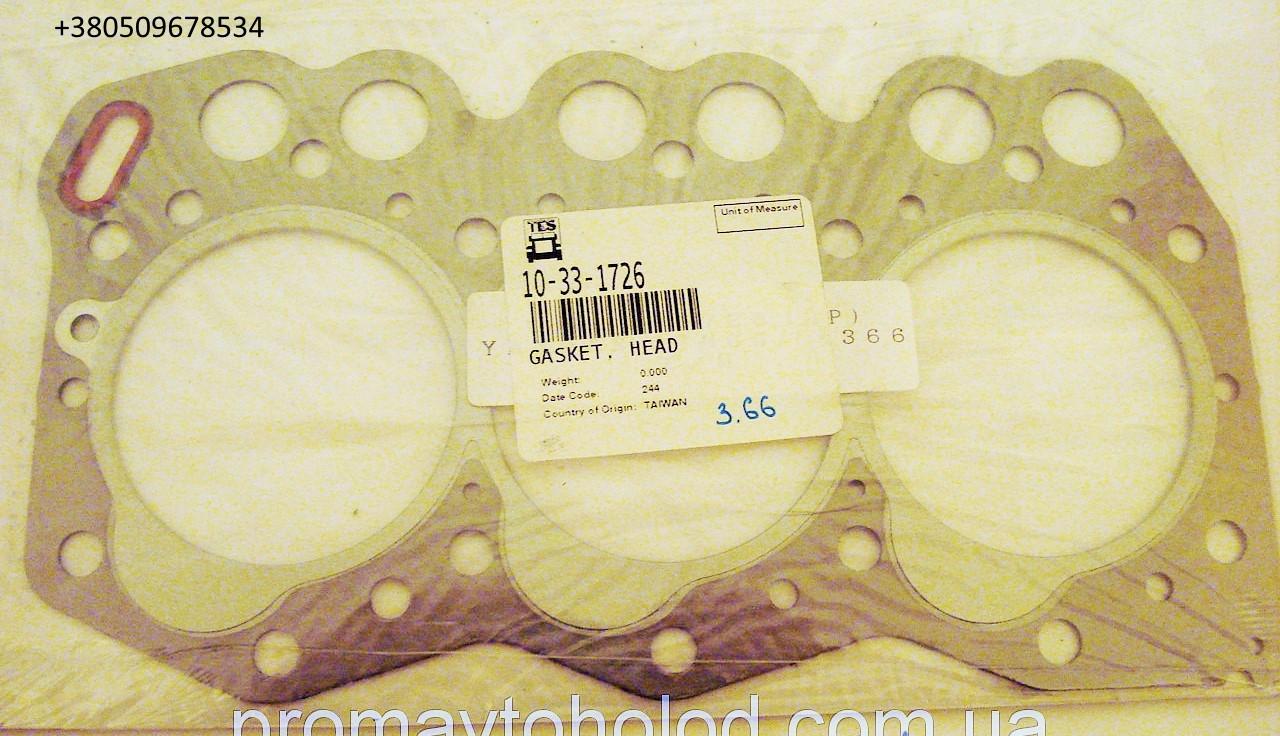 Прокладка головки Yanmar TK 3.66 , 33-1726