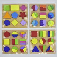 Деревянная рамка-вкладыш Геометрия С 29639 (80) 4 вида