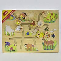 Деревянный лабиринт Домашние животные С 29418 (36) в коробке