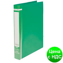 Папка пласт. с 2-ма кольцами, А4 (25мм), JOBMAX, зеленый BM.3161-04