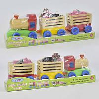 Деревянный поезд с животными С 29691 (36) в коробке