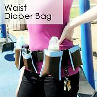 Органайзер с карманами на пояс для мам Waist Diaper Bag
