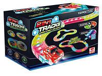 Magic Tracks, автотрек светящийся, FYD 170232 (24) 132 детали, трасса с LED лампочками