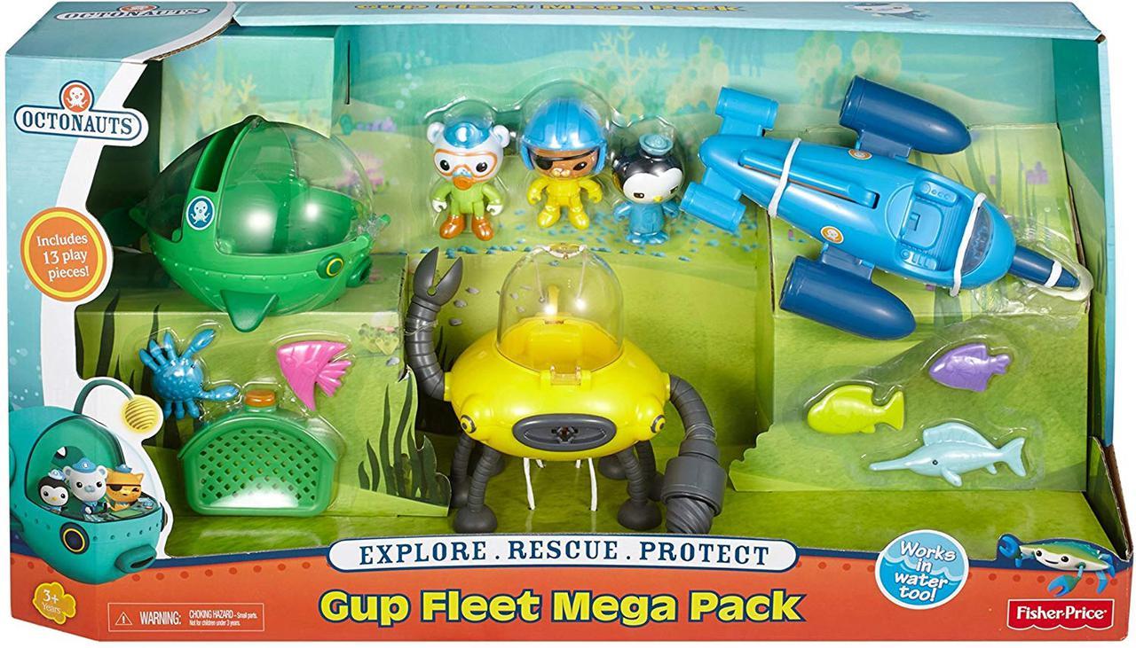 Октонавты Подводный мега флот 3 Гуп Octonauts Gup Fleet Mega Pack Fisher-Price