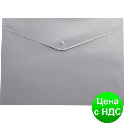 Папка-конверт А5 на кнопке, серый BM.3935-09, фото 2