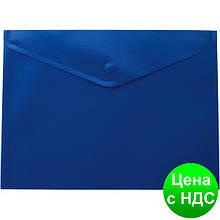 Папка-конверт А5 на кнопке, синий BM.3935-02