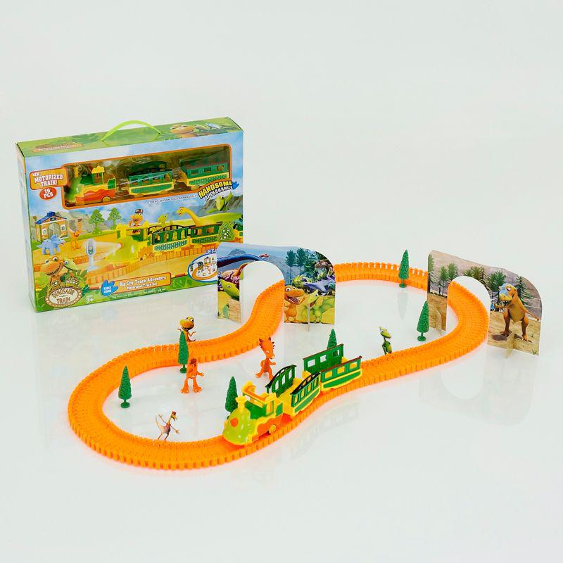 """Железная дорога XZ 517 """"Динозавры"""" (30/2) свет, на батарейках, в коробке"""