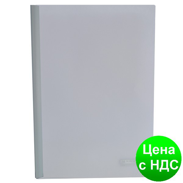 Папка-скоросшиватель с прижимной планкою, 10мм, белый BM.3371-12