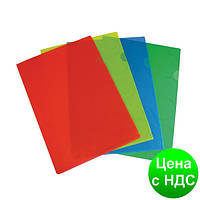 Папка-уголок OMEGA A4 PP, ассорти 0410-0042-50
