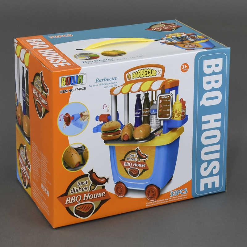 """Игровой набор 8740 СВ """"Кафе быстрого питания"""" (24) 33 предмета, звук, в коробке"""