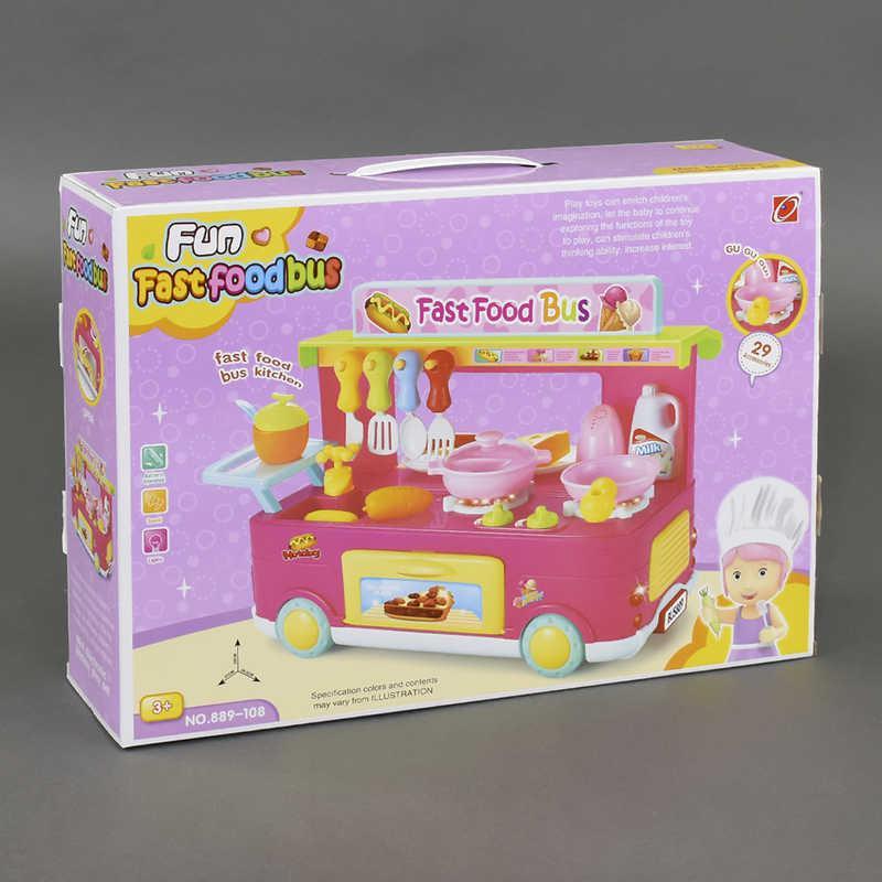 """Игровой набор 889-108 """"Кафе быстрого питания"""" (12) звук, свет, 29 деталей, в коробке"""