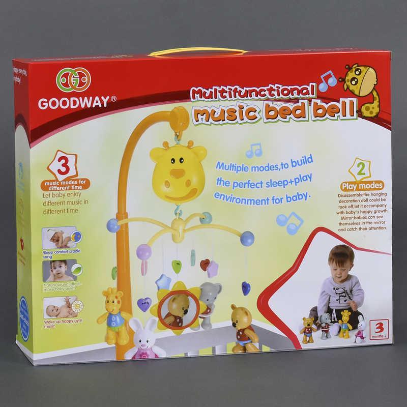 Карусель Животные 6919 (18) музыкальная, на батарейке, пластмассовые игрушки, в коробке
