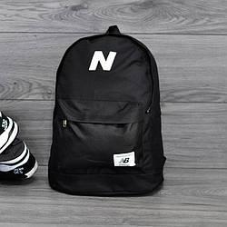 Молодежный городской, спортивный рюкзак, портфель в стиле New Balance, нью бэланс. Черный