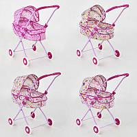 Коляска для кукол с капюшоном 8826-8 - 448232 (18) металл, зимняя, 3 дизайна, в кульке