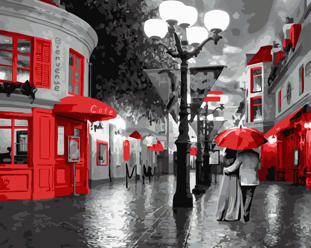Картина по номерам Прогулка под дождем, 40x50 см., Brushme