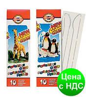 """Пластилин """"Пінгвін"""" 10 цв., 200г.,стеки,карт. упаковка 131506"""
